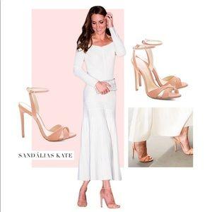 Schutz Dollie Sandals in Hot Pink